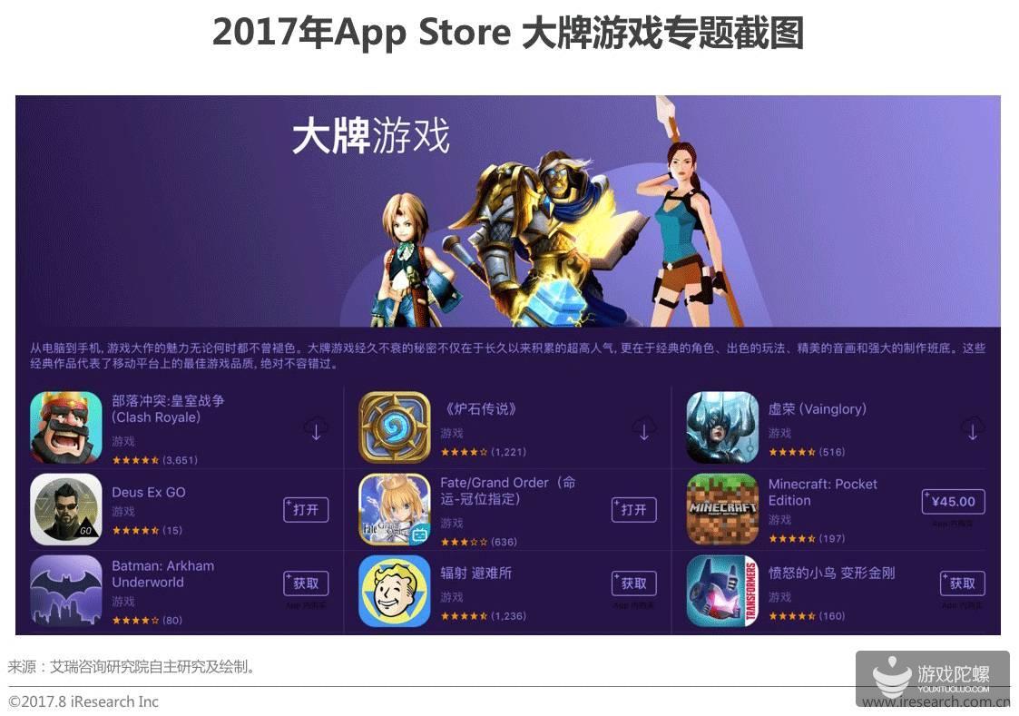 2017中国移动游戏研究报告出炉:大制作,大营销,大IP下创新产品难求