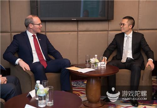 爱尔兰副总理科文尼会谈游族网络总裁陈礼标   游族全球化成果备受肯定