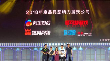 今日头条年度游戏盛典,恺英网络获2018年度最具影响力游戏公司