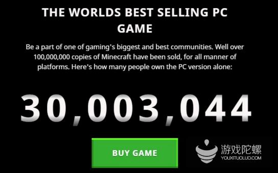 《我的世界》PC版销量超3000万 全平台销量超过1.54亿