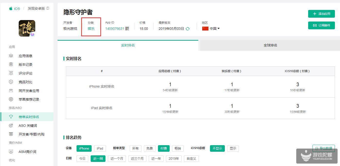 《隐形守护者》iOS版上架发售 登顶全应用付费榜榜首