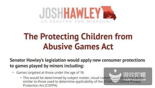 美国议员:保护儿童,禁止游戏微交易和开箱内容