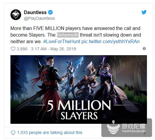 《无畏》游戏人数突破500万 未来将登陆NS和手机端
