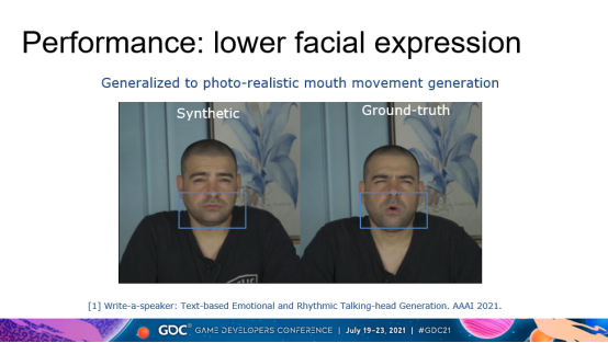 网易伏羲GDC分享:语音驱动表情动画合成