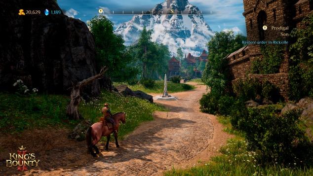 人骑着马走在路上  中度可信度描述已自动生成