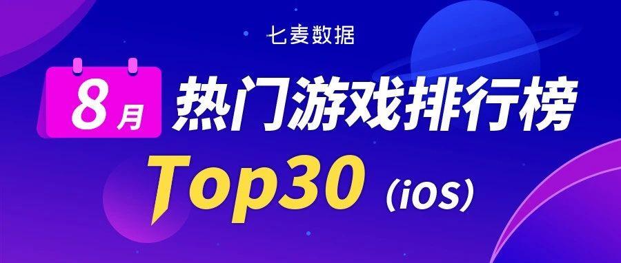 8月热门游戏排行榜:老IP改编获量明显,LV新游空降热门榜TOP 2