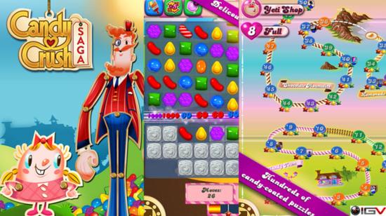 Candy Crush Saga:三消游戏再现高潮