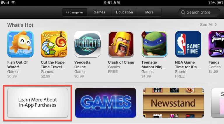 """苹果为iPad App Store添加""""了解更多IAP""""功能"""