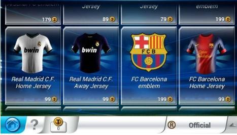 玩家在游戏中可以购买俱乐部周边商品