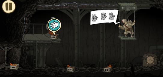 NPC往往用符号和肢体语言表达想法