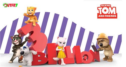 会说话的汤姆猫系列应用下载超30亿次 将推同名电影