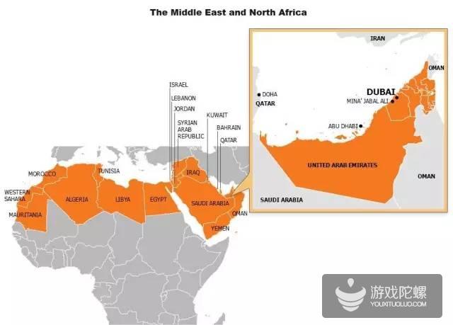 中东北非手游市场:大R玩家很土豪,16年规模将达32亿美元
