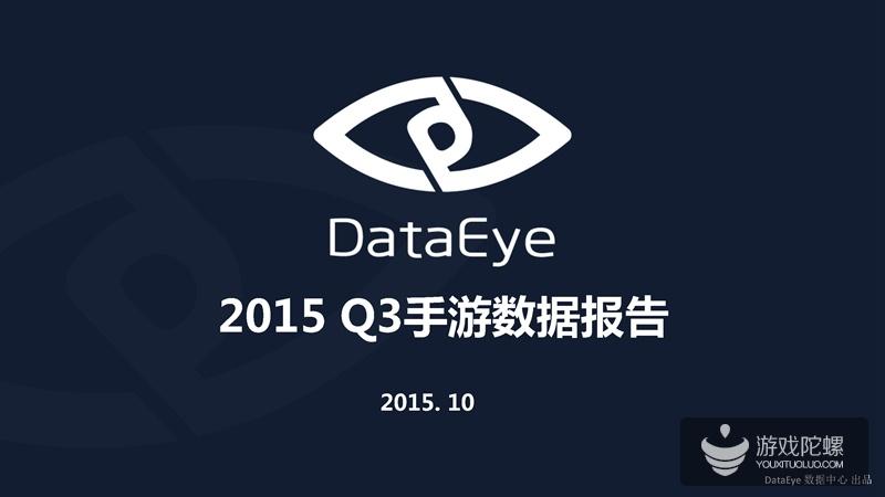 DataEye2015Q3手游报告:IP游戏达48%,三国、西游、动漫最多