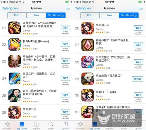 """""""十存一""""! App Store畅销榜TOP10被腾讯网易联手收割"""