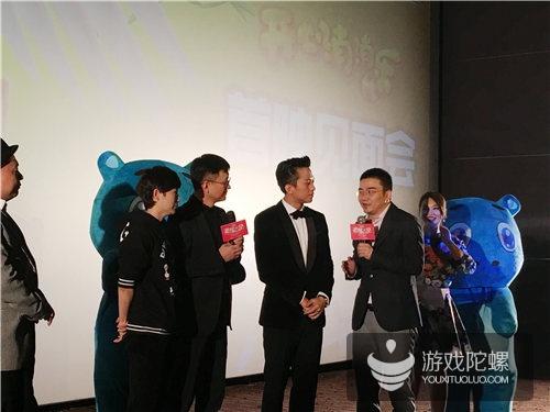 乐元素首席执行官王海宁与《恶棍天使》主创人员互动