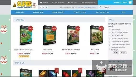 海外开发者推荐:10个顶级的2D游戏资源站