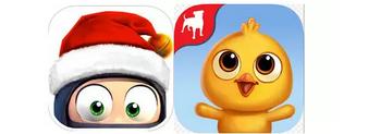 《笨拙忍者》和《乡村度假2》的图标,凸显了大脸大眼睛才是王道