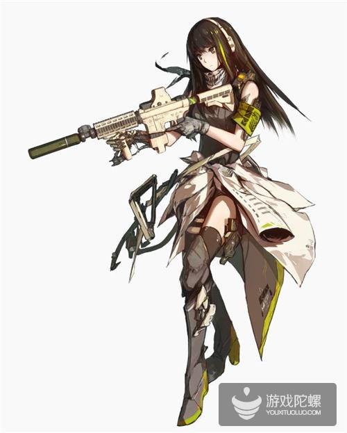 同样是M4A1,《少女前线》的立绘显然更用心